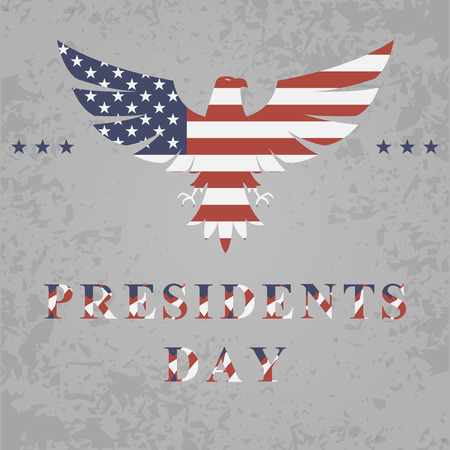 presidents day: presidents day background with eagle