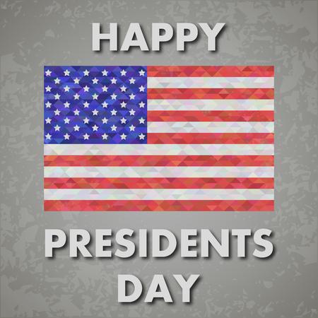presidents: presidents day background, united states flag