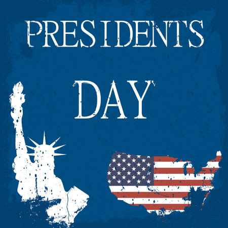 nomination: presidents day. map of America. The Statue of Liberty