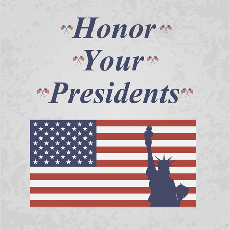 presidents: honor your presidents backgrond with flag