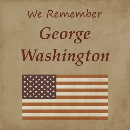 george washington: American revolutionary George Washington Illustration