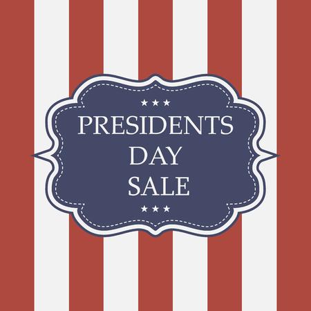 presidents: presidents day sale background Illustration