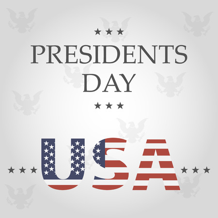 presidents: presidents day background. usa in flag color