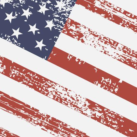 USA rétro drapeau Vecteurs