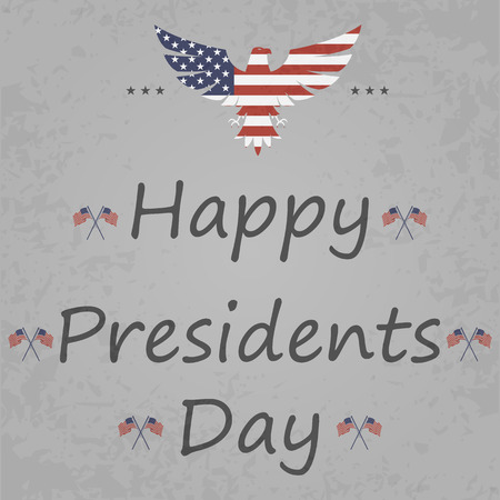 presidents: illustration of stylish text for Happy Presidents Day.