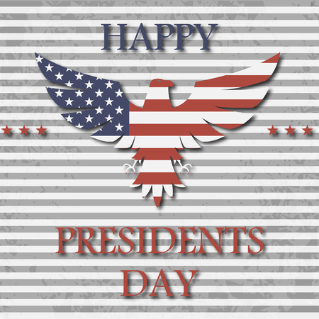 presidency: presidents day background with eagle