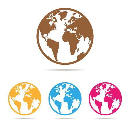 set of website icon in color Illustration