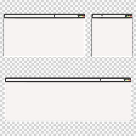 set of web windows