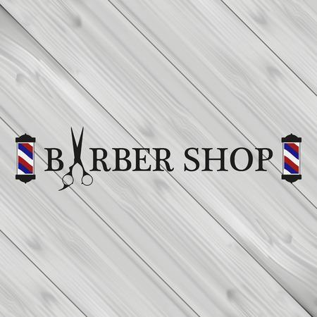barbershop: advertising logo barbershop for gentlemen