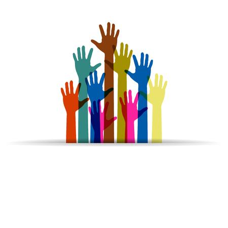 colorido Logo de manos