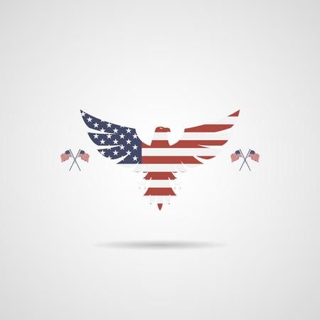 배경 플래그 아메리칸 이글 기호
