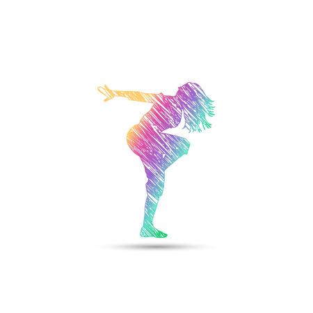 虹色のダンス少女ロゴ