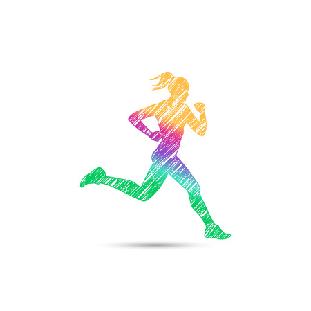 Runner girl logo for web