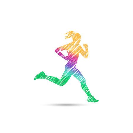 Runner meisje logo voor web Stockfoto - 52617391