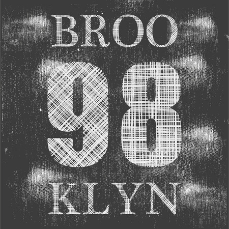 brooklyn: Brooklyn remix typography, t-shirt graphics