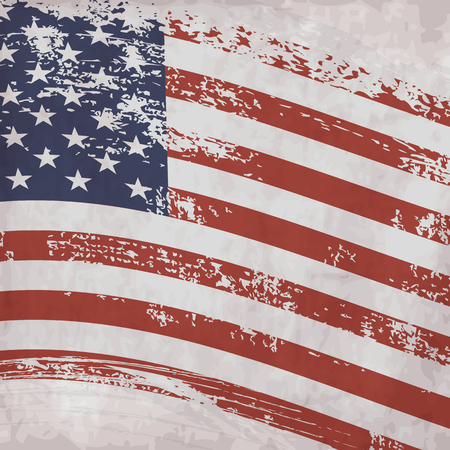 american flags: American Vintage Flag Background. Illustration
