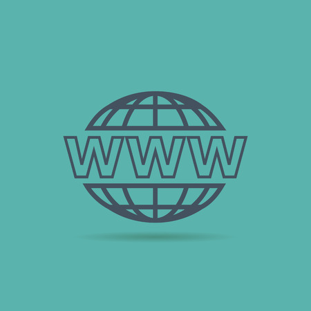 www: Website Icon. www sign