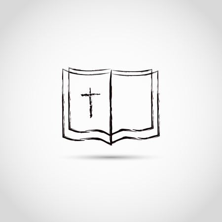 vangelo aperto: chiesa a forma di croce