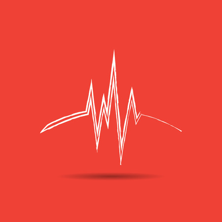 stress test: Heart beat, Cardiogram, Medical icon