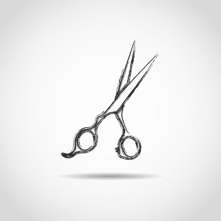 barber scissors: barber scissors isolated on white background Illustration