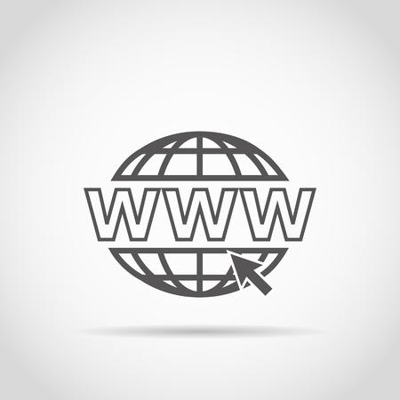 webhosting: Web icon for design Illustration