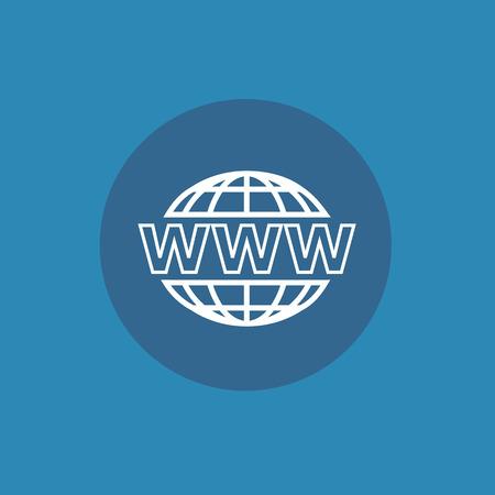 website wide window world write www: Web icon for design Illustration