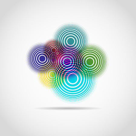 chromatic colour: Color circles logo for web. cool background