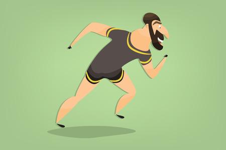 armenian: Runner Armenian. cartoon caricature of an athlete