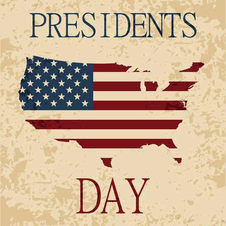 resignation: Presidents day. map of America. The Statue of Liberty