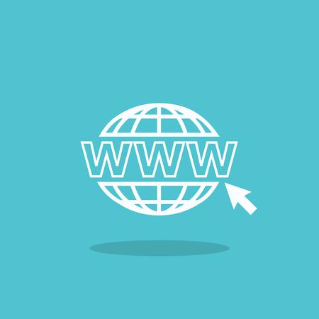 Website icon. www address Illustration