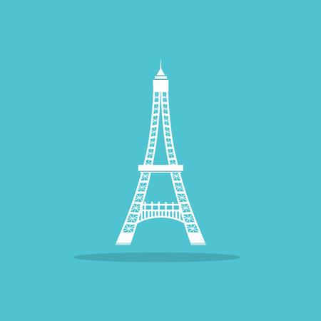 eiffel tower logo for web Illustration