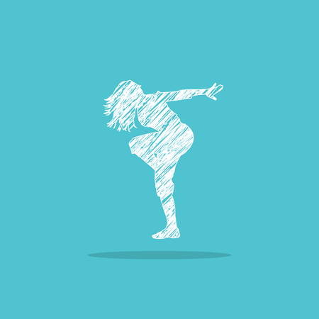 dancing girl. logo for web