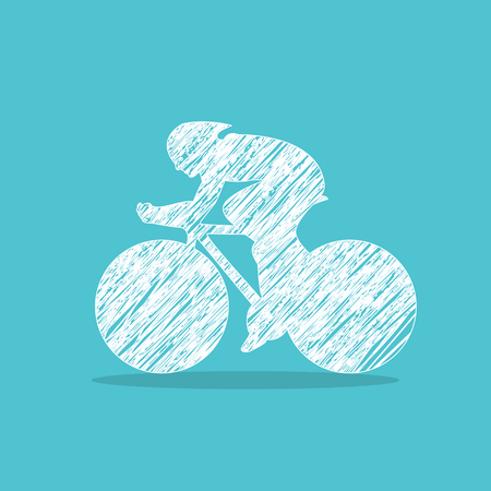 cyclist, bike icon for web design