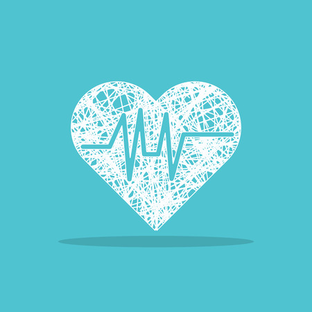 cardiograph: heartbeat logo for web Illustration