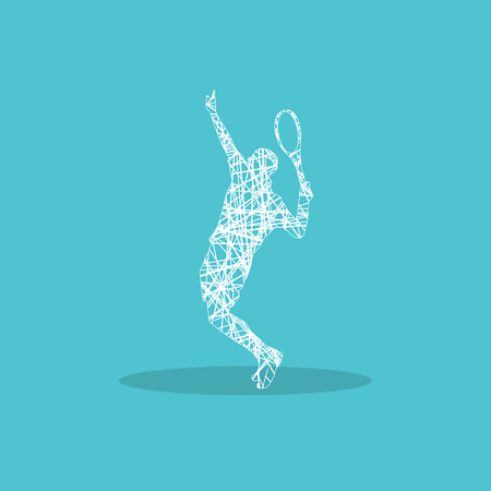 Tennis player for web design