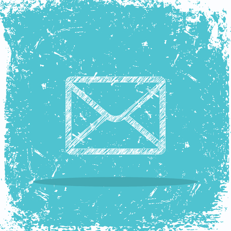 Mail sign on grunge background Illustration