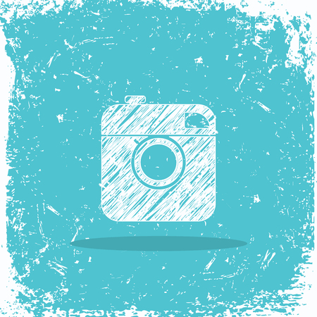 shutter: Camera icon logo. grunge design