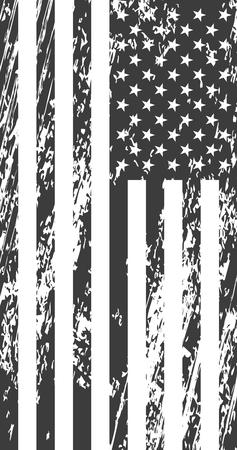 Grunge american flag. Vintage background for web design