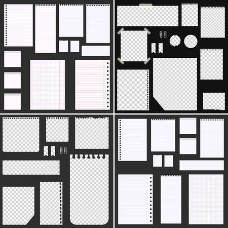 Big set of paper heets for web design Illustration