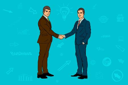 Two businessmen. handshake. contract, agreement