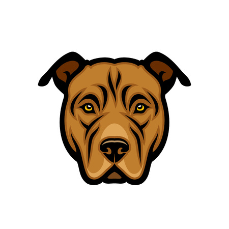 American Staffordshire Terrier dog - isolated vector illustration