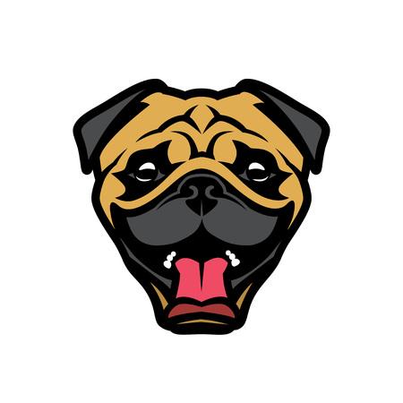 Pug dog face - vector illustration Illusztráció