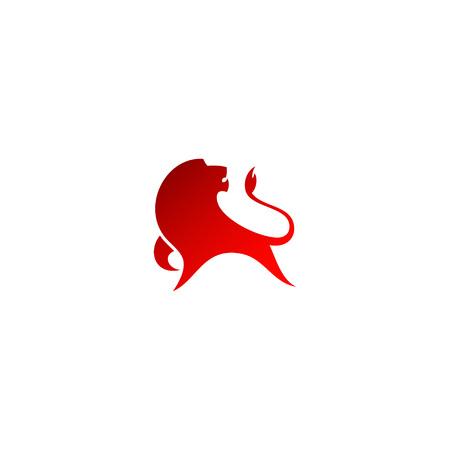 Red lion symbol - isolated vector illustration Illusztráció
