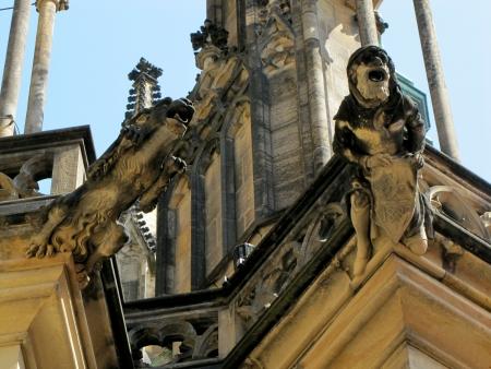 vitus: Prague,   St  Vitus Cathedral  Stock Photo