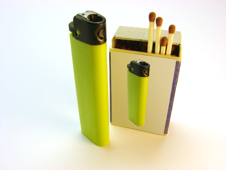 lighter, matches                                  Stock Photo - 1566292