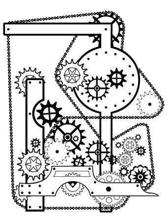 maschinenteile: Achse  Illustration