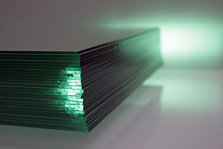 tinsel: glass,focus on a foreground Stock Photo