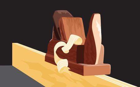 昔は木製の飛行機  イラスト・ベクター素材