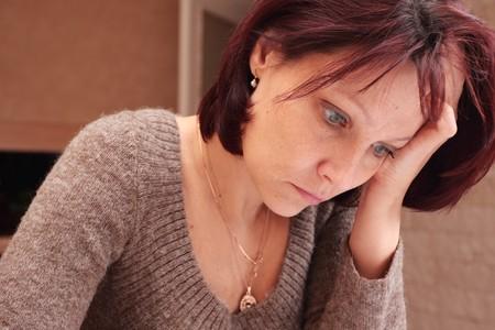 The sad woman