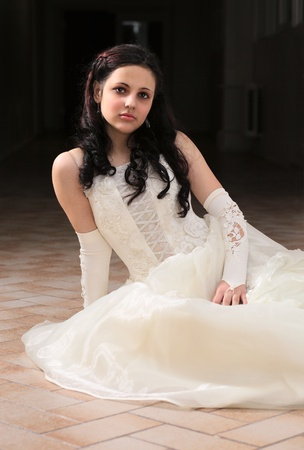 young woman in a evening dress. Stock Photo - 8893573